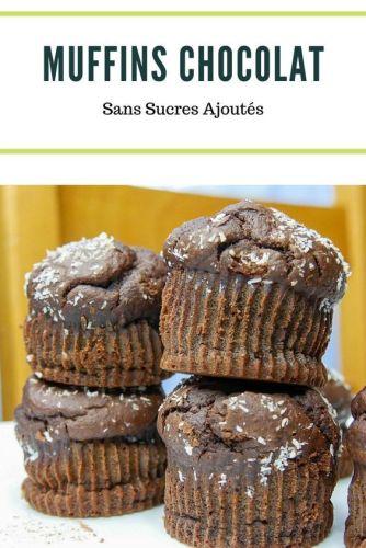 Recette Muffins Chocolat - Muffins au Chocolat (Vegan, Sans Sucres Ajoutés)