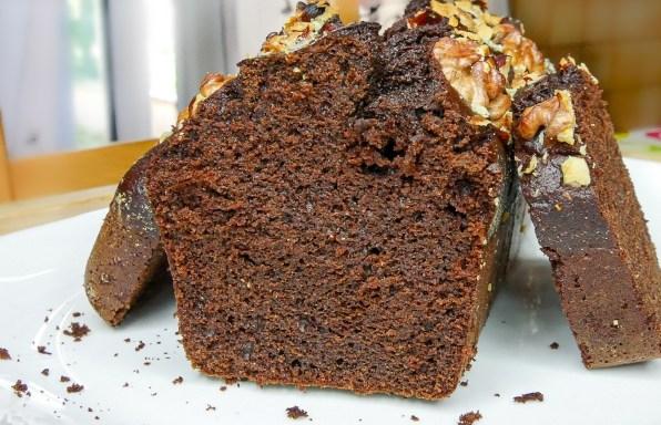 Cake au chocolat à la farine de pois-chiche
