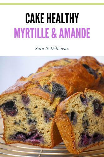 Cake Myrtille Amande 1 - Cake Myrtille & Amande (Sans Sucres Ajoutés)
