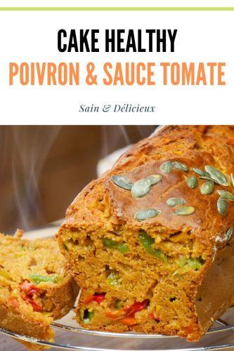 Cake healthy Poivron sauce tomate 1 - Cake Poivron & Sauce Tomate