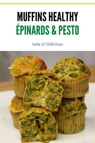 muffins healthy ÉPINARDS pesto 1 - Muffins Pesto & Épinards
