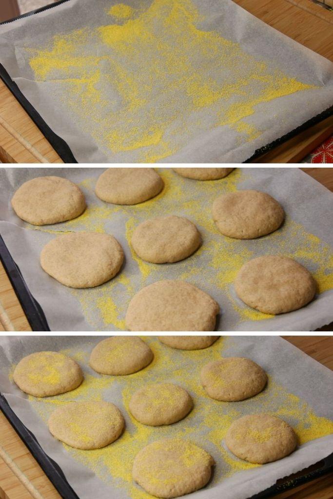 tape 9   Semoule de Maïs et formation des Muffins - Recette Muffins Anglais (Complet, Maison)