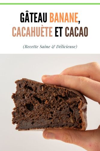 Gateau Banane Cacahuete et Cacao 1 - Gâteau Banane, Cacahuète et Cacao (Léger, SSA)