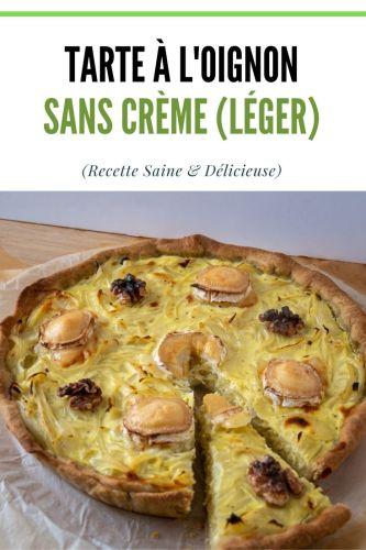 Tarte a lOignon Sans Creme Legere Healthy 2 - Tarte à l'Oignon Sans Crème (Légère, Healthy)
