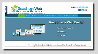 Seashoreweb website design & social media marketing