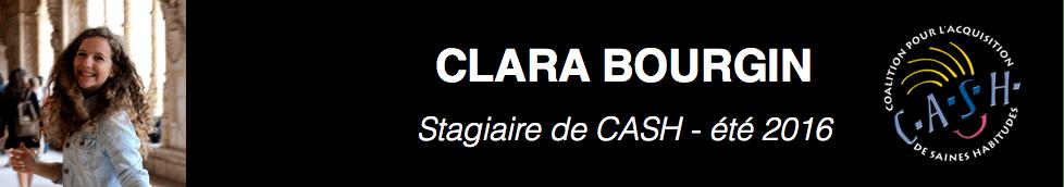 Stagiaire de CASH – Clara Bourgin