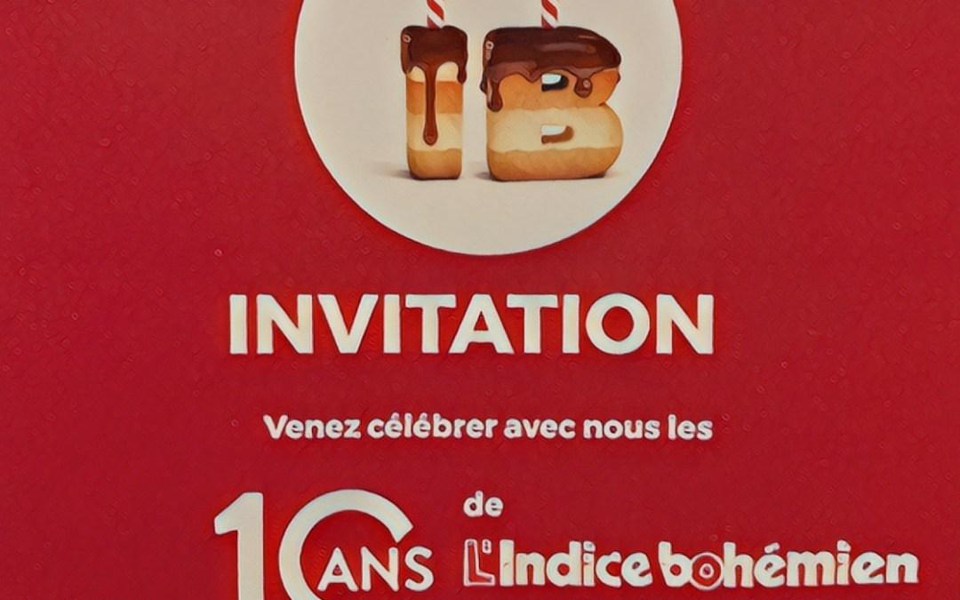 L'INDICE BOHÉMIEN – 10 ANS :-)