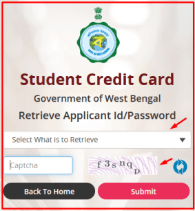 How to Retrieve Applicant Id/Password at wbscc.wb.gov.in?