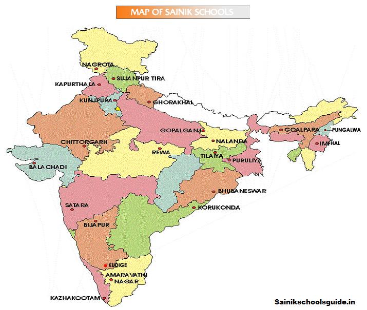 Sainik School Map