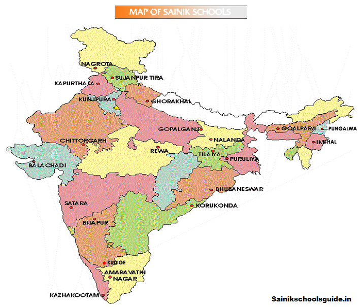 Sainik School Map