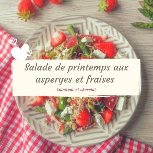 Salade de printemps asperges fraises