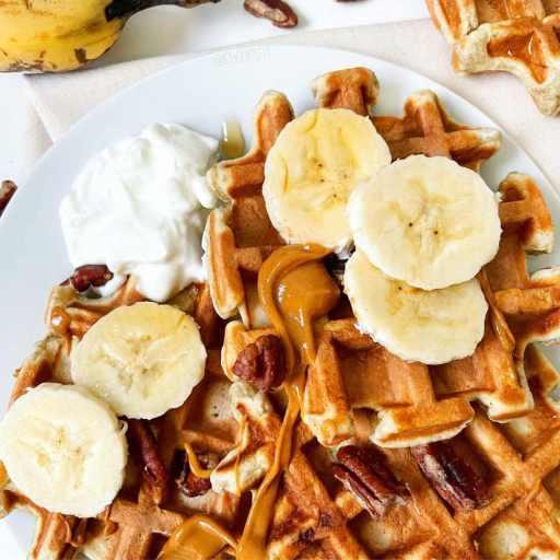 recette healthy et facile de gaufre à la banane sans sucre et sans matière grasse