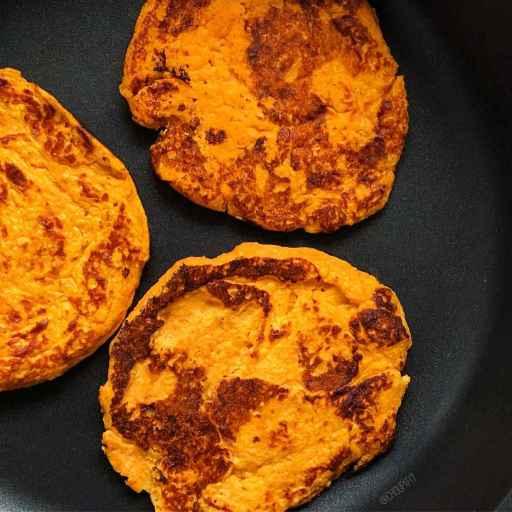 recette healthy de pancake salé à la patate douce et aux flocons d'avoine