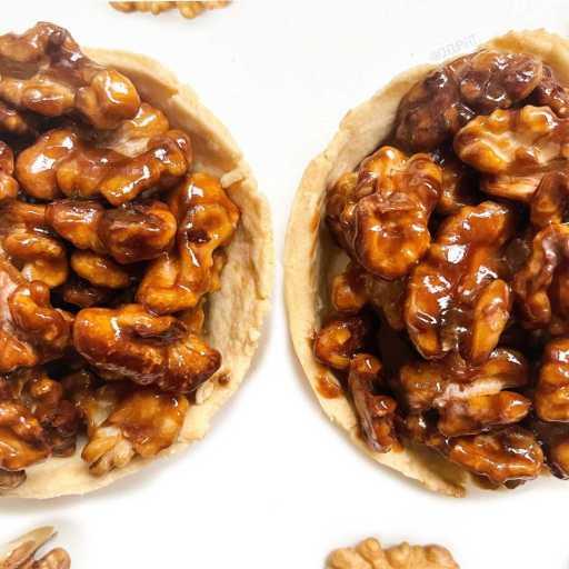 recette healthy et vegan de tartelette aux noix sans beure et sans lactose