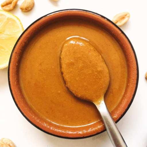 recette de sauce thaï au beurre de cacahuète et miel