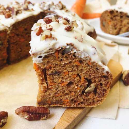 Gâteau aux carottes léger et santé (carrot cake healthy)