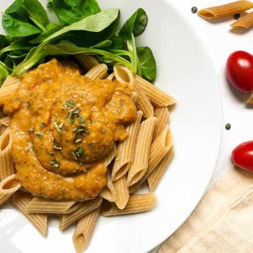 Sauce à spaghetti aux lentilles (végétarien)