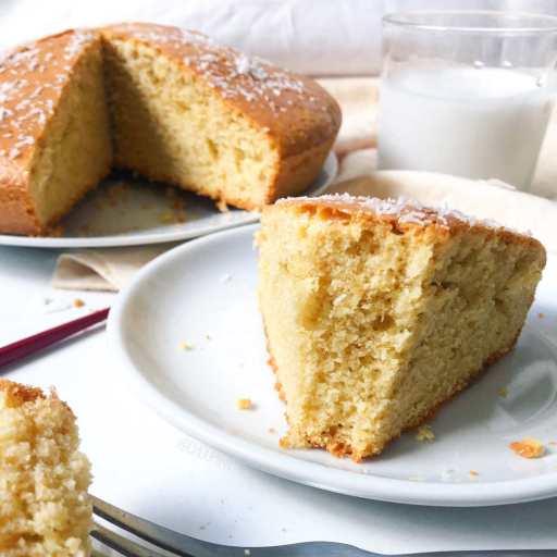 recette healthy et diététique de cake au lait de coco sans beurre et sans lactose