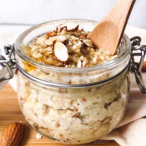 Porridge chaud et protéiné à la frangipane