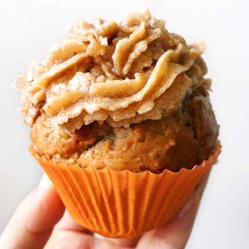 recette vegan et healthy de cupcake à la châtaigne sans lactose, sans oeuf