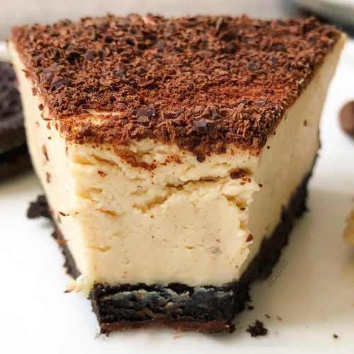 Cheesecake allégé au café et oréo