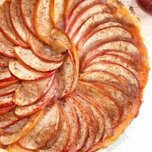 recette healthy et vegan de tarte aux pommes avec compote sans beurre