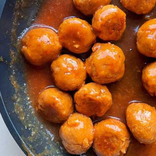 Boulettes de viande vegan sauce aigre-douce