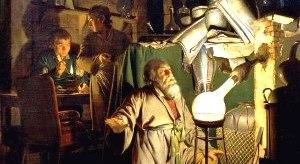 Henning Brand dengan Penemuannya (Lukisan Joseph Wright)