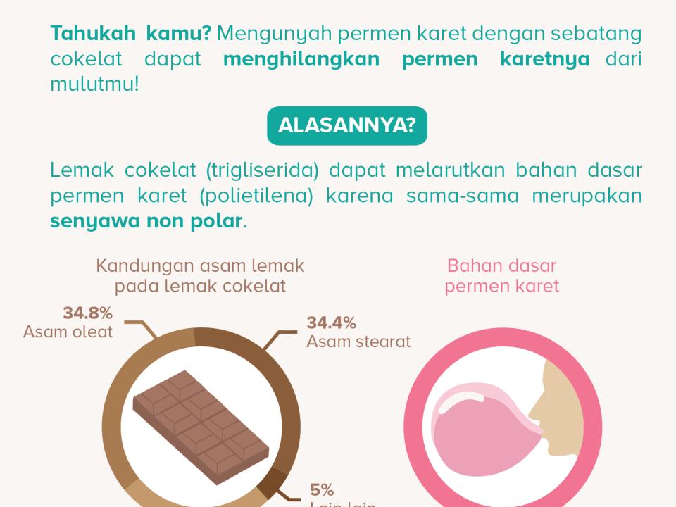 cokelat vs permen karet