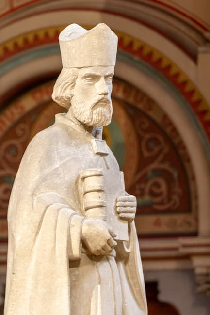 Saint Ambroise Patron sculpture