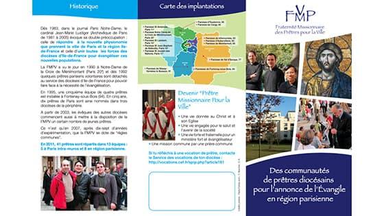 Dépliant FMPV - Fraternité Missionnaire des Prêtres pour la Ville