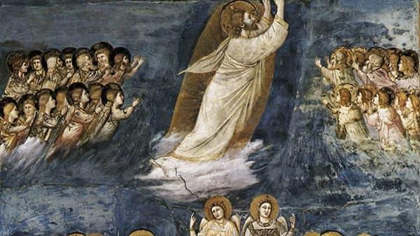 Tableau sur L'Ascension de Jésus