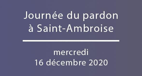 Journée du pardon à Saint-Ambroise, Titre