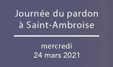 Journée du pardon à Saint-Ambroise, 2021