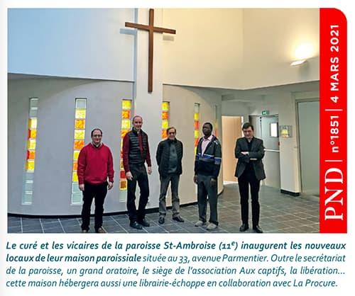 maison paroissiale de Saint Ambroise - vue intérieure