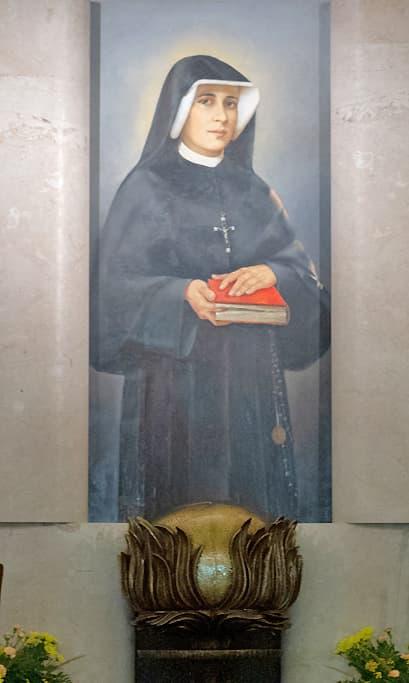 Sainte Faustine portrait tableau
