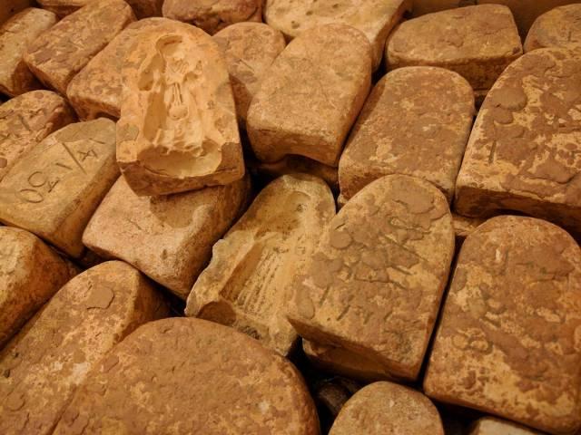Moules à santons de Stra, utilisés par TOUN (collection particulière).