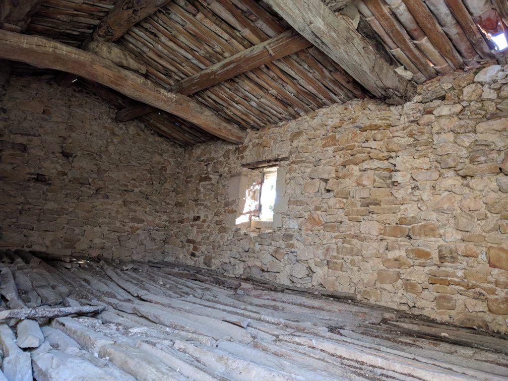 Vue intérieure de l'étage de La Porquetière