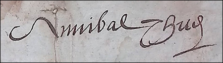 Signature Annibal THUS