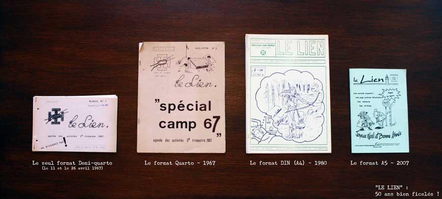 Couvertures et formats du lien depuis 1967