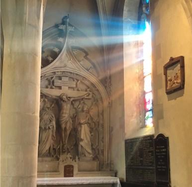 Calvaire avec le Christ sur la croix