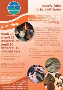 flyer Formation Préhistoire Varaignes octobre 2014-001-001