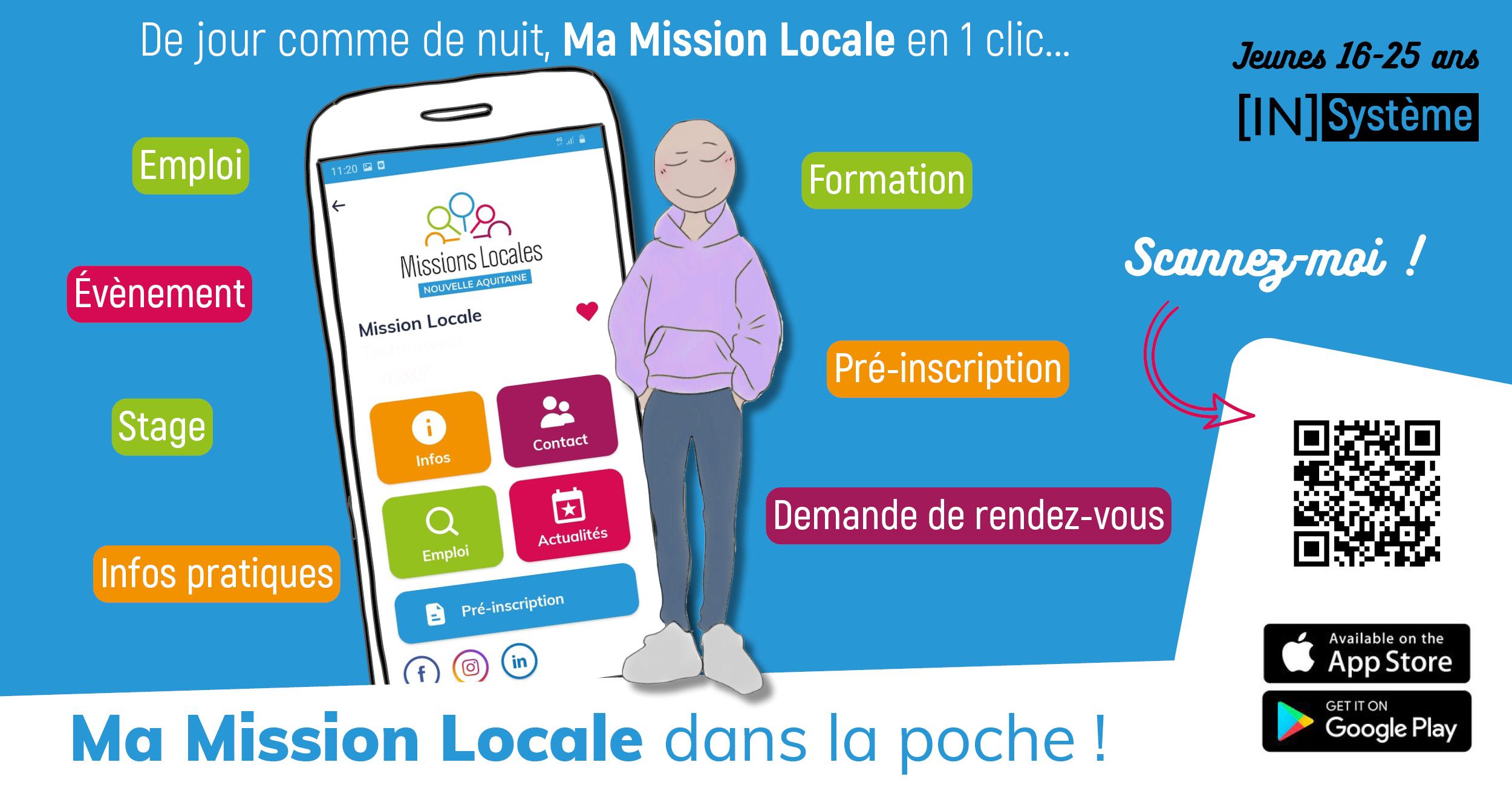 « Ma Mission Locale »  l'application mobile pour les jeunes