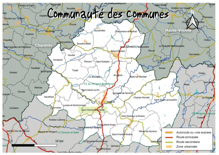 Liste des communes et nombre d'habitants en Dordogne
