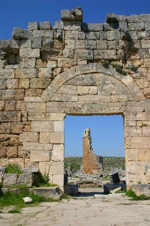 La porte de l'époque romaine