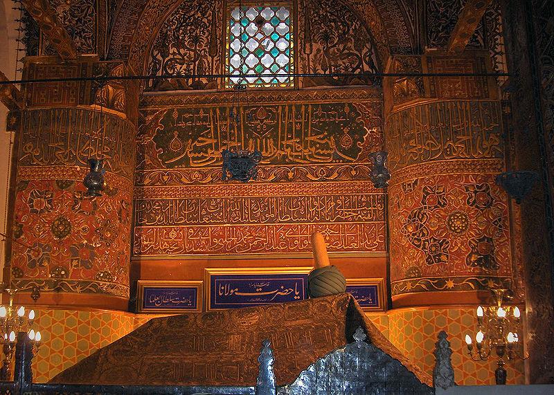 La tombe de Mevlana.