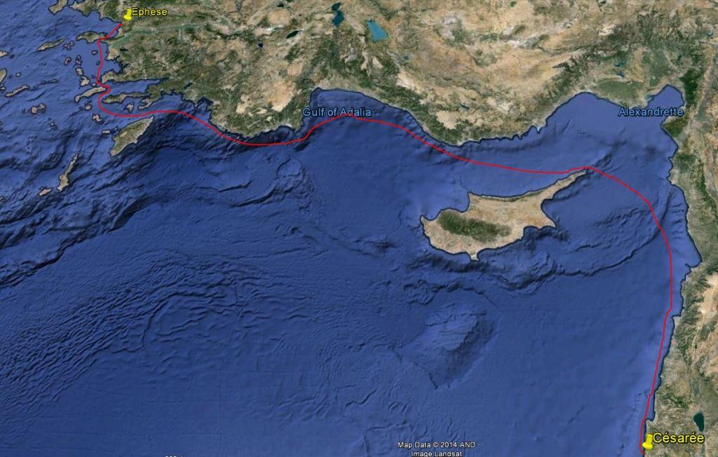 Voyage jusqu'à Césarée
