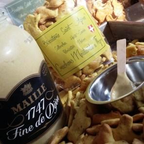 Crackers moutarde et thym