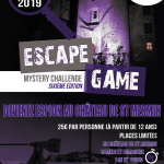 ESCAPE GAME CHATEAU SAINT MESMIN 20-21 AVRIL 2019