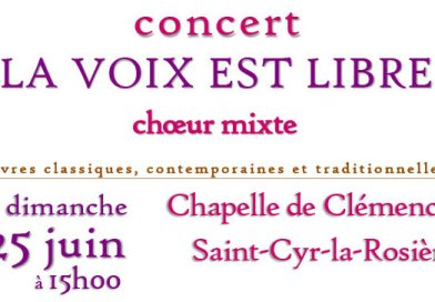 La voix est libre en concert à Clémencé